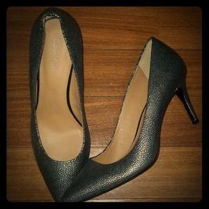 Calvin Klein silver heels Gayle 8